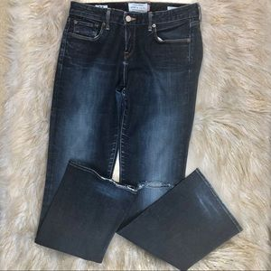 LUCKY BRAND Dark Distressed Jeans